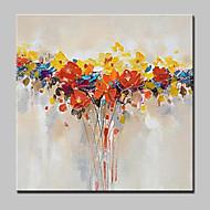 Håndmalte Abstrakt / Blomstret/Botanisk olje malerier,Moderne Et Panel Lerret Hang malte oljemaleri For Hjem