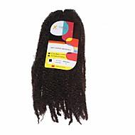 """צמות סרוגות טרום לולאה סריגה Kanekalon חום בינוני תוספות שיער 18"""" שיער צמות"""