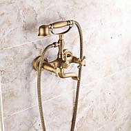 tanie Baterie prysznicowe-Bateria Prysznicowa - Antyczny / Art Deco / Retro / Nowoczesny Antique Copper Przytwierdzony do ściany Zawór ceramiczny / Brass