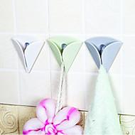 Enkel installasjon håndkleholder gummi sugepute klut te håndkleholder gummi trykk i krok tilfeldig farge