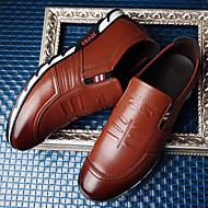 baratos Sapatos Masculinos-Homens Sapatas de novidade Pele Napa Primavera / Outono Oxfords Caminhada Antiderrapante Preto / Marron