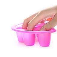 1db manikűr szerszámok öt lyukú habszivacs kézzel kenjük a körömlakk eltávolítót