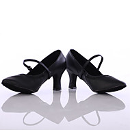 billige Moderne sko-Dame Dansesko Syntetisk Høye hæler Kustomisert hæl Kan spesialtilpasses Dansesko Svart / Sølv / Brun / Innendørs