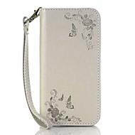 billiga Mobil cases & Skärmskydd-fodral Till huawei P9 / Huawei P9 Lite / Huawei P8 Korthållare / Plånbok / med stativ Fodral Blomma Hårt PU läder för Huawei P9 Plus /