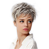 6 Synthetic Short Blonde Hair Wig Dark Root Female Pixie Cut Wig African American Wig For Women Cosplay Wigs
