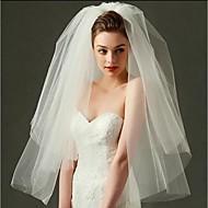 Δύο-βαθμίδων Χωρίς τελείωμα Πέπλα Γάμου Πέπλο προσώπου / Πέπλα ως τον αγκώνα / Πέπλα Δαχτύλων με Τούλι / Κλασσικό