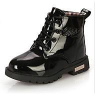 billige High-tops til børn-Pige Sko PU Komfort Støvler for Afslappet Sort Gul Rosa Blå Lys pink