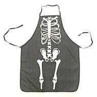 ハロウィーン面白い生地の骨格パターンエプロンキッチンのクリーニング