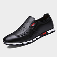 Men's Oxfords Spring Fall Novelty Nappa Leather Outdoor Casual Flat Heel Ruffles Black Blue Brown Walking