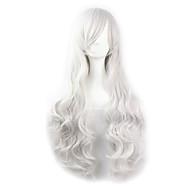 Γυναικείο Συνθετικές Περούκες Κυματιστά Άσπρο Περούκα άνιμε Απόκριες Περούκα Καρναβάλι περούκα φορεσιά περούκες