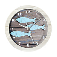 cheap Alarm Clocks-Happy Gifts High Quality Mitation Wood Color Retro European Style Wooden Clock