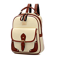 Women Bags All Seasons PU Polyester Backpack for Casual Outdoor Black Beige Brown Khaki