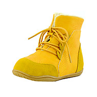 Gutter-Kunstlær-Flat hæl-Komfort-Støvler-Friluft Fritid-Svart Gul Mandel