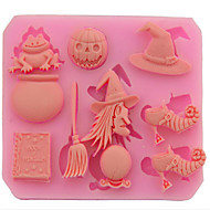 Halloween Easter Witch Products Pumpkins Sugar Cake  Bread  Mousse  Jelly  Prepared Food  Color Random 8.7*7*0.9Cm