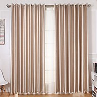 To paneler Window Gardiner Moderne , Solid Stue Polyester Materiale gardiner Hjem Dekor For Vindu