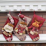 1cover)(異なるスタイル)新しもの好きの家の飾りクリスマス飾りクリスマスストッキング
