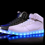 Unisex Tornacipők Kényelmes Világító cipők Bőr Tavasz Nyár Ősz Tél Sport Hétköznapi LED Alacsony Fehér Fekete Piros 1 inch alatt
