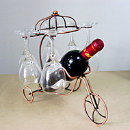 cheap Barware-1PC Creative Newfangled Kitchen Grogshop Restaurant Decoration Iron  Art Wine Place Rack
