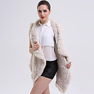 BF-FUR STYLE Women's Sophisticated Winter Fur Coat Sleeveless