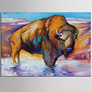 billiga POP Art-Hang målad oljemålning HANDMÅLAD - Popkonst Klassisk Moderna Duk