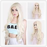 Naisten Synteettiset peruukit Lace Front Pitkä Hyvin pitkä Luonnolliset aaltoilevat Mansikka Blonde / Bleach Blonde Luonnollinen
