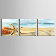 Canvas Set Beroemd / Landschap Modern / Klassiek,Drie panelen Canvas Vierkant Print Art wall Decor For Huisdecoratie