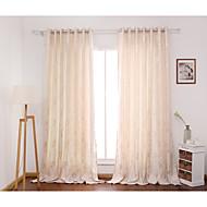 İki Panel Pencere TedaviÇiçek Yatakodası Polyester Malzeme Perdeler Perdeler Ev dekorasyonu For pencere