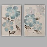 pintado à mão abstrato / floral / botânico moderno / clássico pintura em tela de um painel de lona