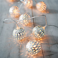 ferie lys ledet stripe 20 lampe baller / sett førte streng for bryllupsfesten juletrebelysning juledekorasjon