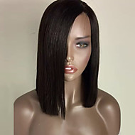 Women Synthetic Lace Front Wig Fashion Natural Black Color Bob Straight Heat Resistant Synthetic Hair Wigs