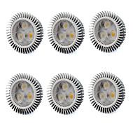 6W GU5.3(MR16) LED-spotpærer MR16 3 Høyeffekts-LED 560 lm Varm hvit / Kjølig hvit V 6 stk.