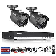 billige DVR-Sett-sannce® 4ch full 960p cctv dvr videoovervåkeropptaker 1.3mp nattvis værbestandige kameraer