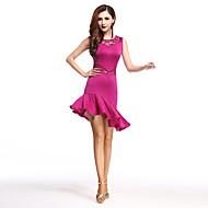 Skal vi latin danse kjole kvinder spandex blonder høj dans kostumer