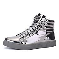 Bărbați Pantofi Piele Originală Primăvară Toamnă Iarnă Confortabili Cizme la Modă Cizme Pentru Casual Auriu Negru Argintiu