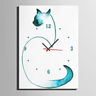 billige Veggklokker-Moderne / Nutidig Dyr Wall Clock,Rektangulær Lerret35 x 50cm(14inchx20inch)x1pcs/ 40 x 60cm(16inchx24inch)x1pcs/ 50 x