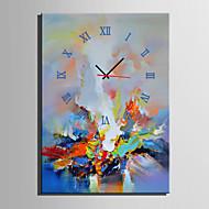 Moderne / Nutidig Andre Wall Clock,Rektangulær Lerret35 x 50cm(14inchx20inch)x1pcs/ 40 x 60cm(16inchx24inch)x1pcs/ 50 x