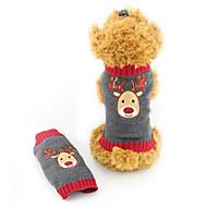 Kat Hund Bluser Hundetøj Akrylfibre Vinter Sødt Jul Rensdyr Grå For kæledyr