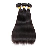 3 komada Egyenes Isprepliće ljudske kose Indijska kosa 100g per bundle 8inch-28inch Proširenja ljudske kose