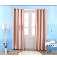 Propp Topp Et panel Window Treatment Moderne , Ensfarget Stue Poly/ Bomull Blanding Materiale Blackout Gardiner Hjem Dekor For Vindu