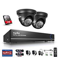 sannce® 1.0MP 720p 4 kanaals hd 4 in1 tvi h.264 dvr in / outdoor cctv bewakingscamera ingebouwde 1TB hdd