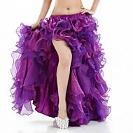 Göbek Dansı Bale Eteği ve Etekler Kadın's Performans Splandeks Ayrık Ön Kolsuz Düşük Etek