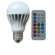 billige Globepærer med LED-B22 E26/E27 LED-globepærer A80 3 leds Høyeffekts-LED RGB Mulighet for demping Fjernstyrt Dekorativ AC 85-265