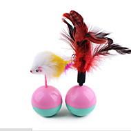 Игрушка для котов Игрушки для животных Интерактивный Игрушка с перьями Бокал Мышь Плюш Для домашних животных