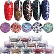 billige Negl salong-12pcs/set Nail Art Dekor Rhinestone Pearls makeup Cosmetic Nail Art Design