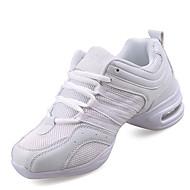 Damer Dansesko Syntetisk Sneakers Træning Indendørs Udendørs Cubanske hæle Hvid Sort og Guld Kan ikke tilpasses