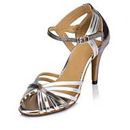 Obyčejné-Dámské-Taneční boty-Latina / Moderní / Salsa-Kůže-Na zakázku-Stříbrná / Zlatá