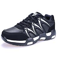 ユニセックス 靴 化繊 冬 秋 コンフォートシューズ アスレチック・シューズ ランニング フラット ラウンドトウ のために スポーツ ホワイト ブルー