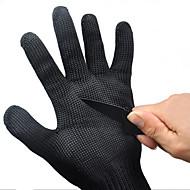 ieftine -1 pereche mănuși de siguranță negru de lucru tăiat rezistent la protecție din oțel inoxidabil de sârmă măcelar mănuși anti-de tăiere