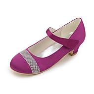 baratos Sapatos de Menina-Para Meninas Sapatos Cetim Primavera / Verão Sapatos para Daminhas de Honra Saltos Pedrarias / Velcro para Azul / Champanhe / Ivory