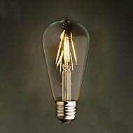 billige Glødelampe-rav 2w edison stil 2200k st64 keramisk led filament pære e27